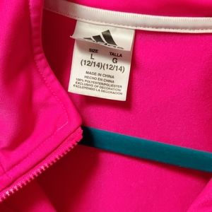 adidas Shirts & Tops - Adidas pink girls zip up